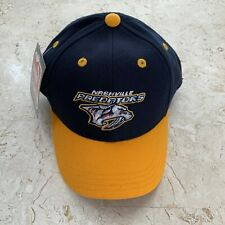 Nashville Predators Hat Youth Navy Blue Gold Hockey Embroidered Snapback NEW