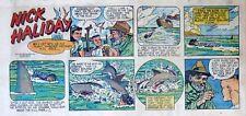 Nick Haliday by Keats Petree - scarce color Sunday comic page - February 7, 1954