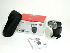 Canon Speedlite 600EX-RT Shoe Mount Flash with box case, filter holder, etc