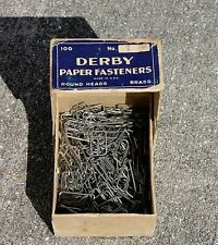 VTG Derby Paper Fasteners Owl Square Paper Clips Office Supplies Mid-Century