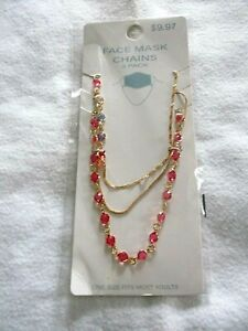 FACE MASK CHAINS/HOLDERS  -  3 PACK