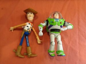 """Toy Story Woody  Buzz Lightyear Thinkway 6"""" Vintage 1996 ?"""
