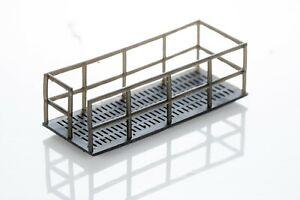 OO Gauge 1:76 Scale Relay Cabinet Lineside Gantry Platform x2