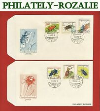 CZECHOSLOVAKIA FIRST DAY COVER - FDC 1962 Mi 1371/1376 BEETLES  (FC 252)