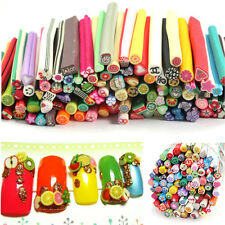 24 Pcs Cute Mixed Polymer Sticks Nail Art Fimo Fruits Flower Slice Decoration