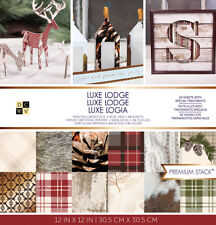 "American Crafts DCWV 12""x12"" Luxe Lodge Premium Cardstock Stack Acid-Free Sheets"