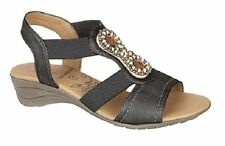 Women's Composition Leather Platforms, Wedges Casual Sandals & Beach Shoes