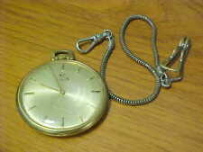 Elgin Gold Filled Pocket Watch, Winder with Chain