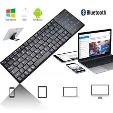 Mini Bluetooth Wireless Keyboard Touch Pad Mouse for iOS Android PC Black