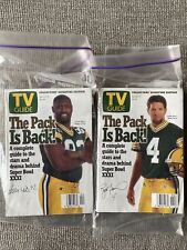 New listing Vintage Green Bay Packers Super Bowl XXXI TV Guides Brett Favre & Reggie White