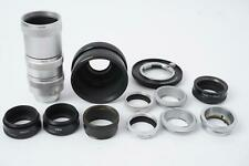 lot of  14x Leica Leitz tubes, rings and mounts - as pictured