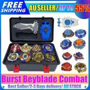 8Pcs Beyblade Burst Evolution Arena Starter w/ Grip Launcher Box Battle Toy AU