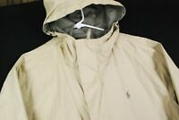 Polo Ralph Lauren REVERSIBLE Full Zip Parka Jacket Coat Beige Tan Brown Mens L