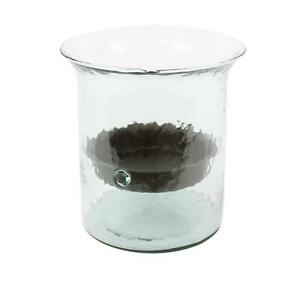 Classic Extra Large Glass Hurricane Pillar Candle Holder Rustic Centerpiece