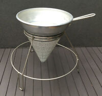 Vintage Aluminum Cone Food Mill Applesauce Tomatoes Strainer Sifter