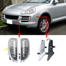 E4 R87 Fit Porsche Cayenne 07-10 Led DRL Fog Lamp W/ Turn Signal Position Lights