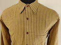 Robert Talbott Mens Long Sleeve Button Front Shirt Size sz M Medium
