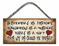 SHABBY CHIC FUNNY  PLAQUE THE ONE GOOD THING MEMORY LOSS GIFT PRESENT 83