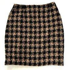VTG Forenza Skirt Womens 8 Tweed Pencil 90s Italy Grunge Holiday Career 80s Wool