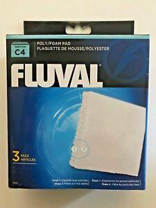 Fluval Hagen C4 3 pack Filter Poly / Polyester / Foam Pad 14010