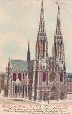 Postcard Gruss aus Wien Vienna Austria Votivkirche Votive Church Spires 1900 UDB
