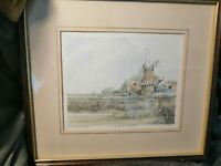 Signed Framed Ltd Edition Print Of Watercolour Of Cley Mill, Norfolk