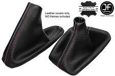GRIS COUTURE CARBON FIBRE VINYLE SOUFFLET LEVIER FREIN POUR BMW E46 E36 M///