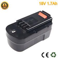 18V 1.7Ah Battery For Black&Decker 244760-00, A1718, A18, HPB18, HPB18-OPE Ni-Cd