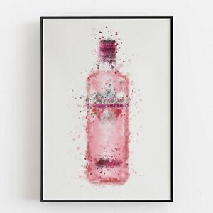 P0045 | Gin Bottle | Wall Art Print | Poster | Liquor | Bar | Pub | Restaurant