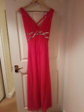 Jane Norman Size 14 Long Bright Pink Dress
