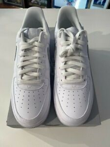 Nike Air Force 1 DC2911-100 White/Pure Platinum Size 10 NEW With Box