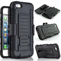 Hybrid Armor Shockproof Rugged Belt Clip Holster Case Cover For iPhone SE 5s 5
