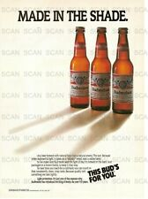 1988 Budweiser Vintage Magazine Ad 'Made In The Shade'