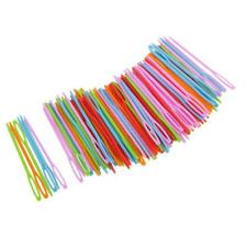 100pcs Colorful Plastic Sewing Weaving Needles for Children Craft Needlework