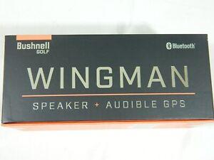 New Bushnell Wingman Golf Audible GPS RangeFinder / Speaker Magnetic Wing Man