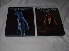 LOT of Resident Evil Apocalypse+Extinction BLU-RAY STEELBOOK Sets Milla Jovovich