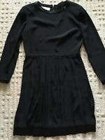 Women JONES NEW YORK Designer Dress Size 14 XL Black Career Formal Pleated Dress