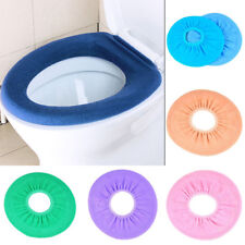 Soft Closestool Washable Lid Top Cover Bathroom Warmer Toilet Seat Cloth