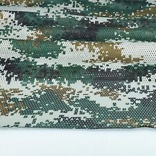 "2-YARDS Woodland Digital Camouflage Net Cover Military 60""W Mesh Fabric Cloth"