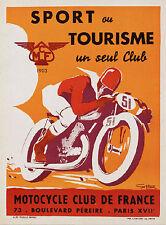 A1 Print -poster  for your frame motor bike racing vintage cafe racers