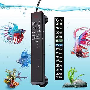 Vibirit Aquarium Heater,Betta Fish Tank Heater 25W Smart Small Aquarium Heater,E