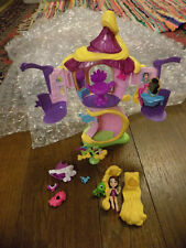 Disney Tangled Rapunzel Hair Salon Tower w doll wigs chair Pascal Play Set  EUC
