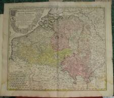 BELGIUM & LUXEMBOURG 1741 HOMANN HEIRS & MAYER ANTIQUE COPPER ENGRAVED MAP