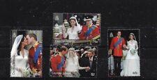 Isole Cayman SG1247/50, 2011 Matrimonio Reale Gomma integra, non linguellato