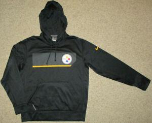 Pittsburgh Steelers Nike Therma Fit Hoodie Pullover Sweatshirt Jacket M Black