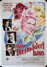 Das Dreimäderlhaus Filmposter A1 Johanna Matz, Karlheinz Böhm, Rudolf Schock