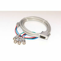 Apple Mac computer Monitor lead / cable, 15d male to 4 BNC plugs male, 1.5m