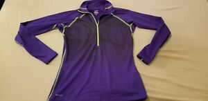 Womens Nike Pro Half Zip Sweater L Large Purple Athletic Gym Workout