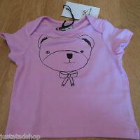 No added sugar baby girl top t-shirt 3-6, 9-12, 18-24 m BNWT designer teddy pink