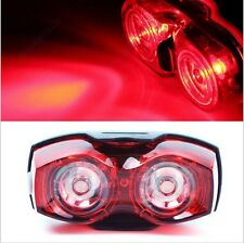 rear 2 led bike light set - bright red lamp lights tail waterproof flash cycling